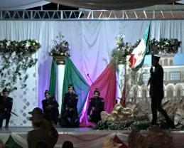 Alumnos de Teocuitatlán representaron la gesta heróica